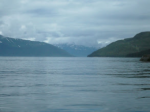 Photo: Greely Point and the entrance to Taku Inlet. My next campsite beach can be seen to the right of Greely Point.