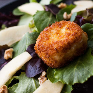 Apple Walnut Salad with Goat Cheese Croutons