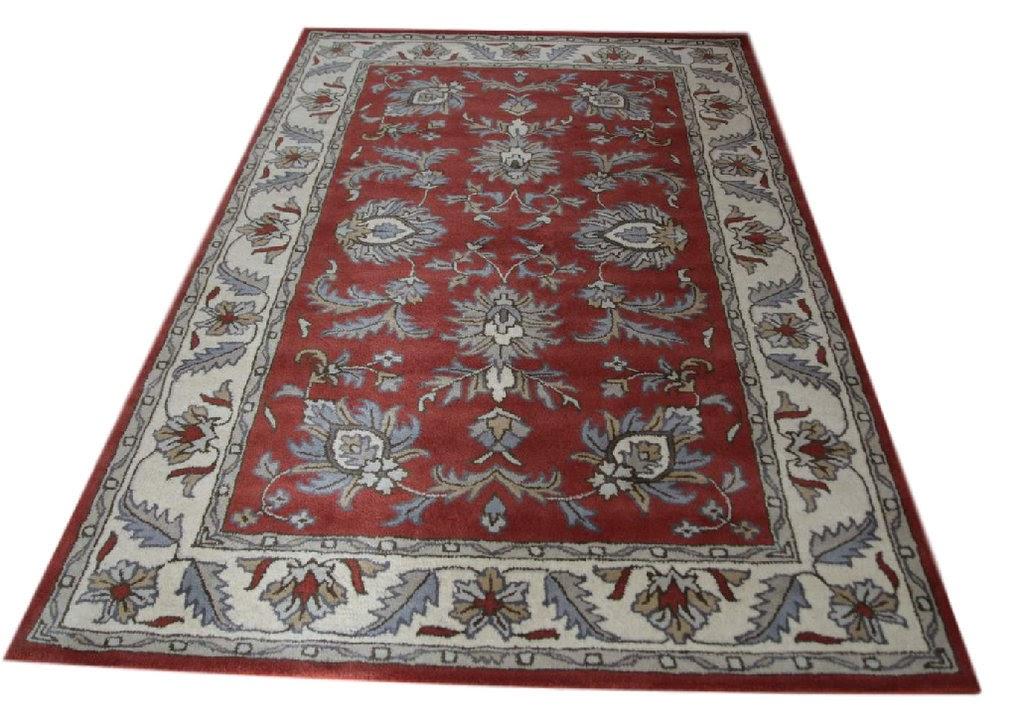 czerwony pastelowy dywan persian ziegler wełniany ręcznie tkany 155x245 tradycyjny kwiatowy