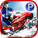 Snowmobile Racing Simulator Parking Games 2017 icon