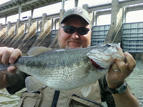 Photo: March 24, 2012 - Paul with a football spotted bass.