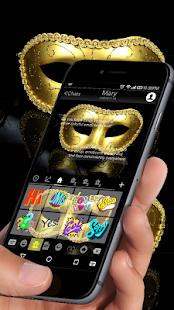 Gold Masquerade Emoji Keyboard - náhled