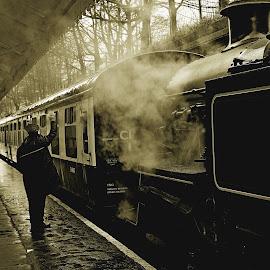 Wet  days  work by Gordon Simpson - Transportation Trains