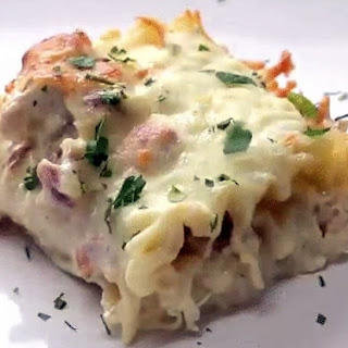 Chicken Bacon Alfredo Rollups Recipe