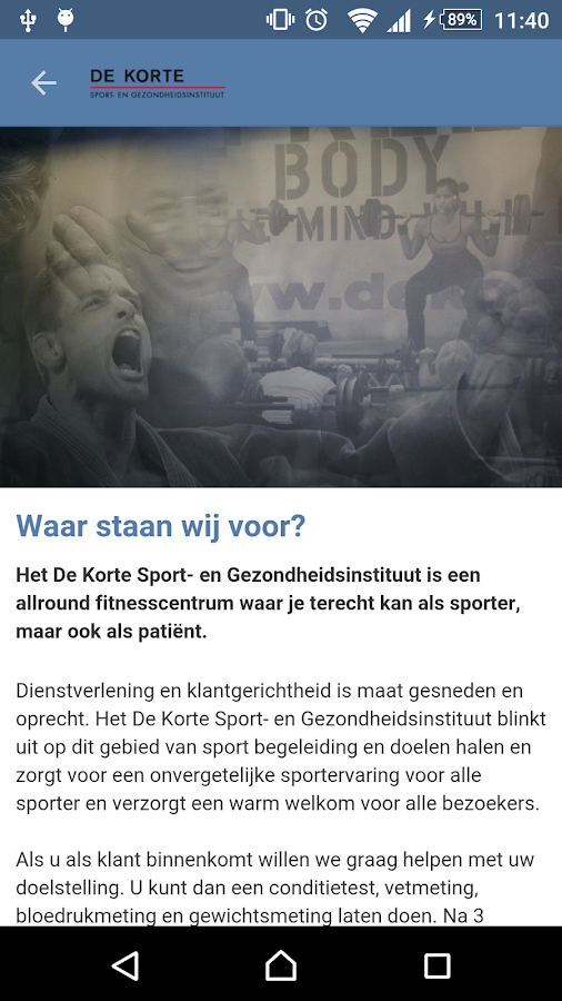 de Korte Sport- screenshot