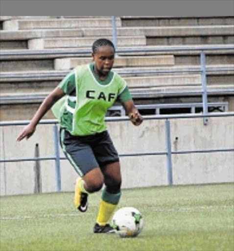 MISSING IN ACTION: SA national U20 and Thunderbirds striker Zimasa Dekeda seen here in camp was a notable absentee when the side triumphed against PE's City Lads at the Oval Stadium Picture: SUPPLIED