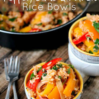 One Pan Pepper, Lime & Ranch Rice Bowls