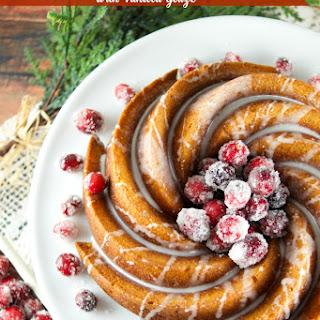 Gingerbread Bundt Cake With Vanilla Glaze
