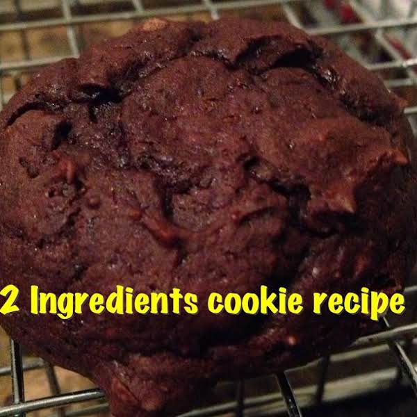 2 Ingredients Chocolate Cookies Recipe