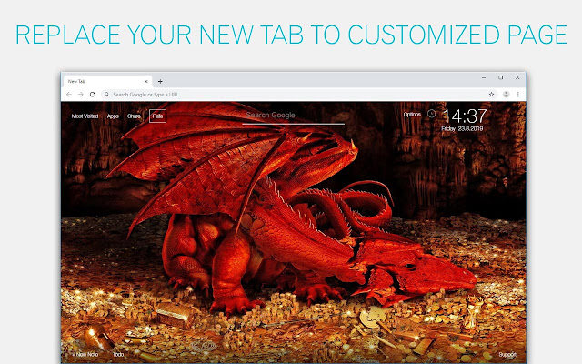 Dragon Wallpaper HD New Tab Dragons Themes