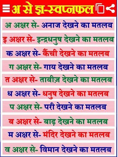 Swapna Phal Hindi सपनो का मतलब - Apps on Google Play