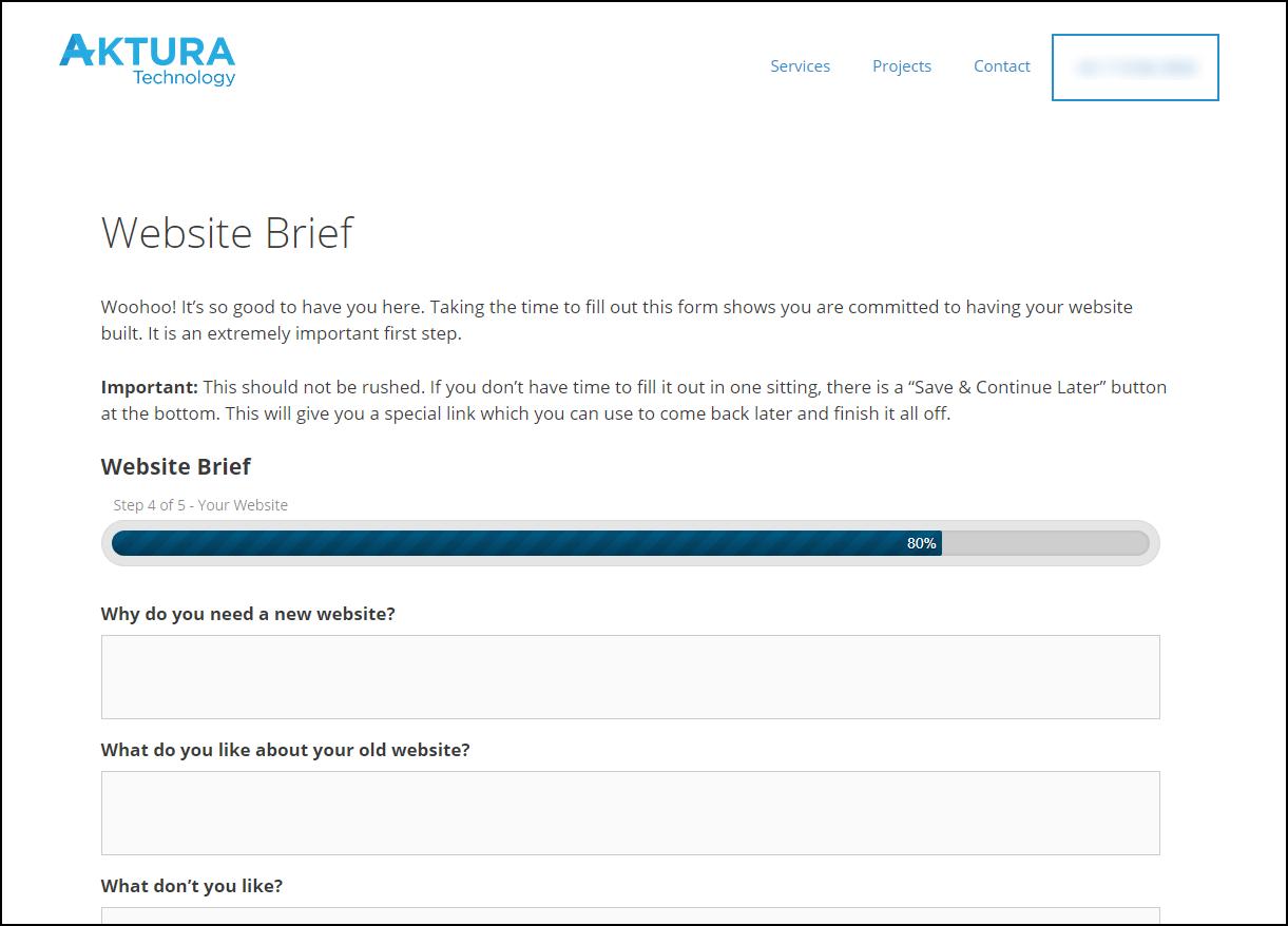 website creative brief example
