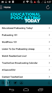 Edu Podcasting Today- screenshot thumbnail