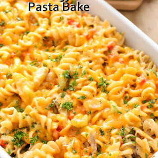 Ranch Buffalo Pasta Bake
