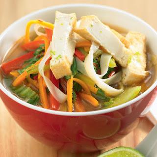 Tom Yum Soup with Tofu.
