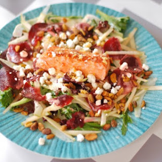Salmon Waldorf Salad with Citrus Yogurt Vinaigrette