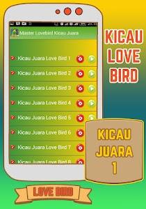 Master Lovebird Kicau Juara screenshot 1