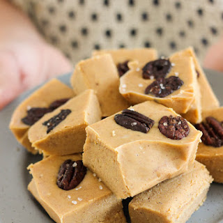 Pumpkin Fudge with Bourbon-Brown Sugar Glazed Pecans