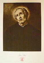 Photo: Stara grafika (rotograwiura) na dużym kartonie 46 x 76 cm z podpisem i współczesną pieczęcią parafialną. Początek XX wieku.