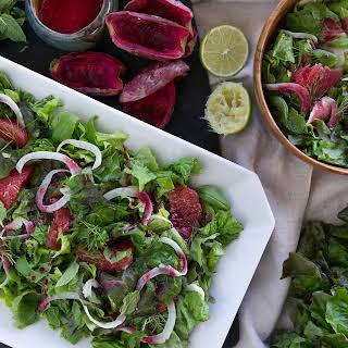 Grapefruit, Fennel, & Herb Salad with Cactus Pear Vinaigrette.