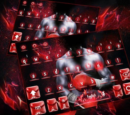 Boxing Punch Hero Keyboard Theme 10001003 screenshots 2