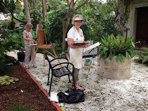 Photo: Plein Air painting the gardens.