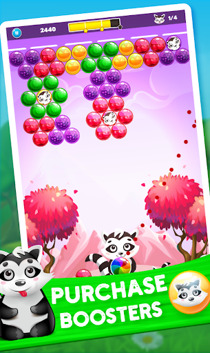 Raccoon Rescue: Bubble Shooter Saga screenshot 4