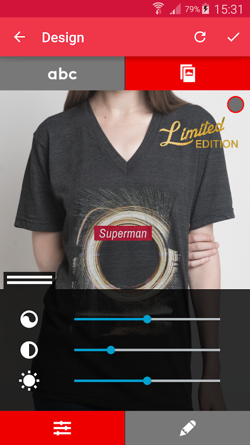 T-shirt design - Snaptee- screenshot