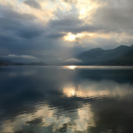 Lake Como Dream by Di Mc - Instagram & Mobile iPhone ( como, calm, blue, clouds, lake, italy )
