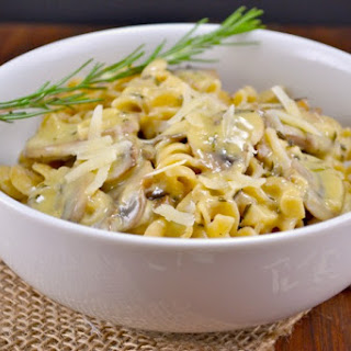 Homemade Rosemary and Garlic White Wine Sauce.