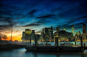 Photo: Here's a shot from last night's sunset right after getting kicked out of the park... multiple times..  #Brooklyn  #nyc  #skylinephotography