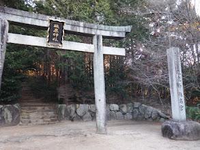 砥鹿神社奥宮への鳥居