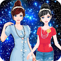 Twin Princess dress up make up icon