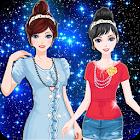 Twin Princess dress up make up icon