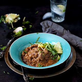 Beef Short Ribs Smothered with Spicy Yogurt Curry.