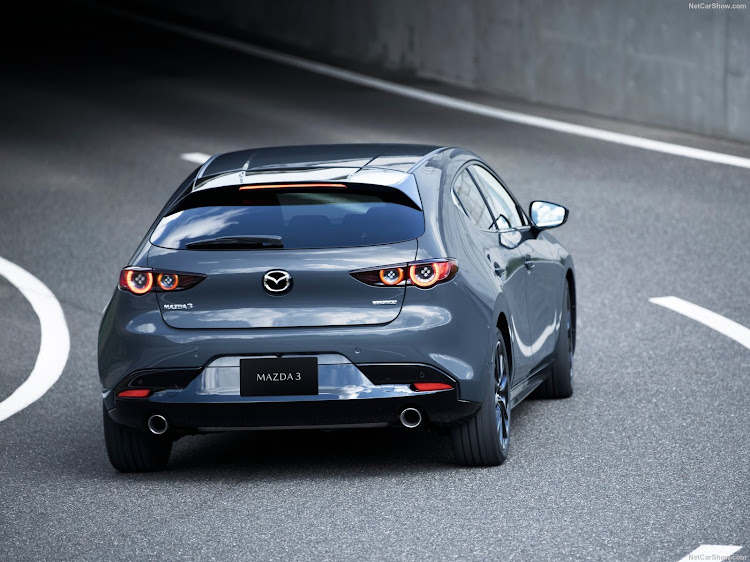 The new Mazda3 is available in five-door hatch (pictured) or four-door sedan. Picture: NETCARSHOW