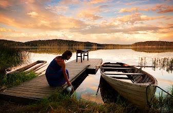 Photo: Sunset over Gammelvalla