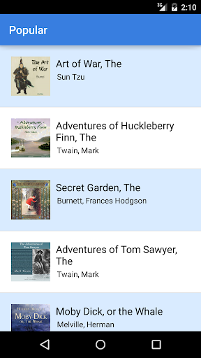 Audiobooks screenshot 1