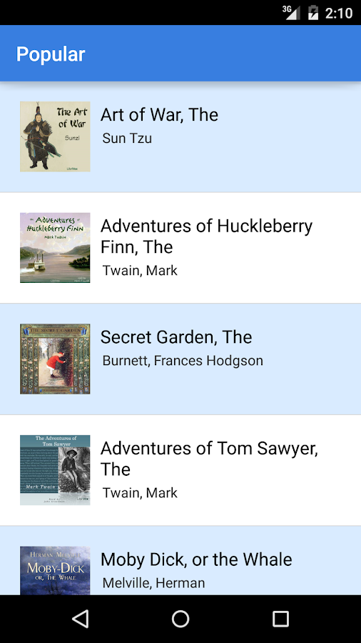 Audiobooks- screenshot