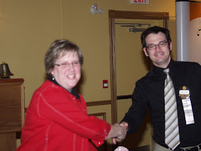 Photo: Judy Jeske, the evening's speaker, moved too fast to be in focus!