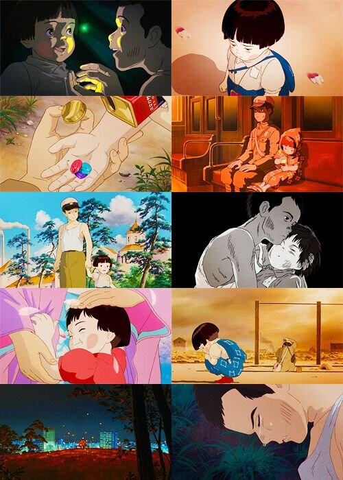 Touching scenes from Grave of the Fireflies