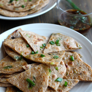 Whole Wheat Scallion Pancakes & Ginger Dipping Sauce