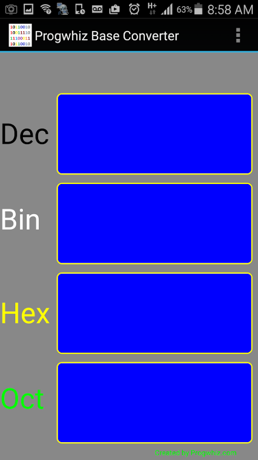 Hex Base Converter- screenshot