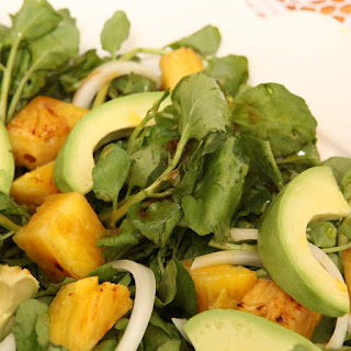 Cuban Avocado, Watercress, and Pineapple Salad (Ensalada de Aguacate, Berro, y Piña)