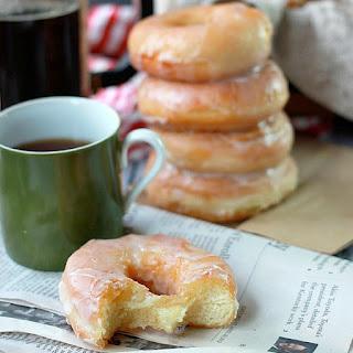 Glazed Yeast Donuts.