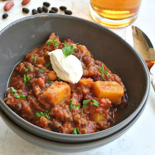 Pumpkin Chili With Pumpkin Beer