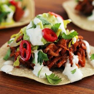 Vegan BBQ pulled jackfruit tacos