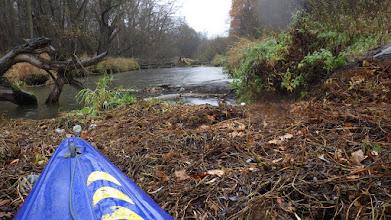 Photo: ten zator to już chyba stała przeszkoda na Widawie