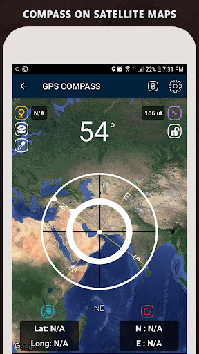 Gyro Compass App for Android Pro & GPS Speedometer screenshot 2