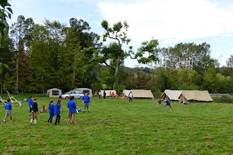Photo: Camp scout dans la parc du Château